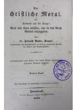 Die Christliche Moral ,1842r.