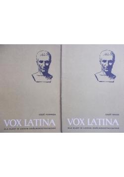 Vox Latina dla klas III  liceum ogólnokształcącego Część pierwsza/ Część druga