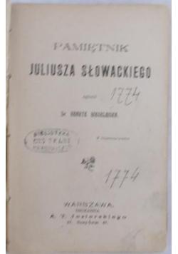 Pamiętnik Juliusza Słowackiego, 1901 r.