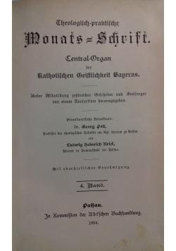 Theologisch - praktische Monats - Schrift, 1894 r.