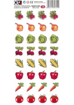 Naklejki Alfika i Zetki 15 Warzywa