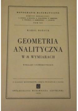 Geometria analityczna w n wymiarach, 1950 r.