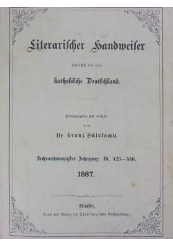 Literarischer Handweiser, 1887r.
