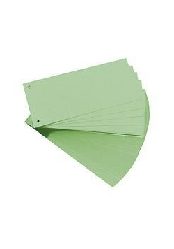 Przekładki 1/3 A4 kartonowe zielone Eco (100szt)