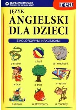 Angielski dla dzieci. Z kolorowymi naklejkami