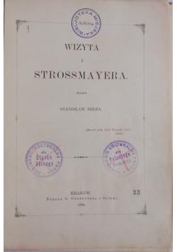 Wizyta u Strossmayera, 1884 r