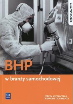 BHP w branży samochodowej Efekty kształcenia wspólne dla branży
