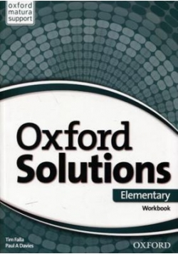 Oxford Solutions Elementary WB OXFORD