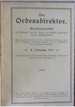 Der Ordensdirektor, 1916 r.