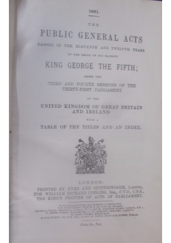 The public general acts, 1921 r.