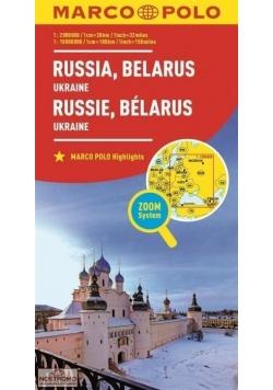 Mapa ZOOM System.Rosja,Białoruś,Ukraina plan miast