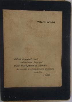 Wilki wyją, 1937 r.
