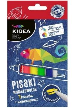 Pisaki wymazywalne 7 kolorów KIDEA
