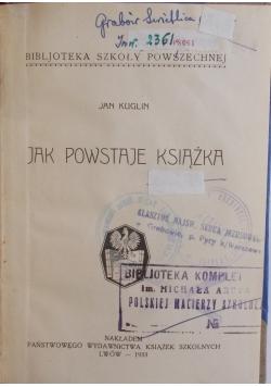 Jak powstaje książka, 1933 r.