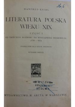 Literatura polska wieku XIX, 1926 r.