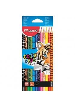 Kredki Colorpeps Animal 12 kolorów MAPED