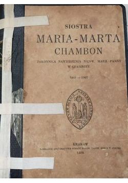 Siostra Maria- Marta Chambion, 1938 r.