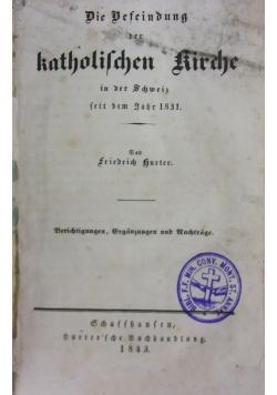 Die Befeindung der katholischen kirche, 1843 r.