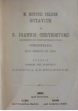M. Minucii Felicis octavius, 1871r.