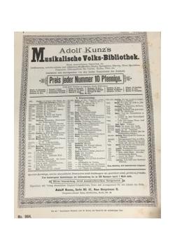 Adolf Kunz Musikalische Volks-Bibliothek
