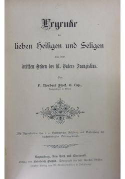 Ergrndr der liben heiligen und Seligen 1886  r .