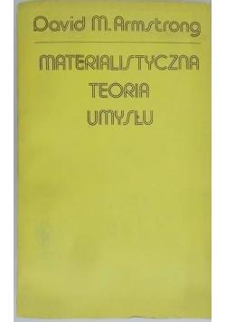 Materialistyczna teoria umysłu