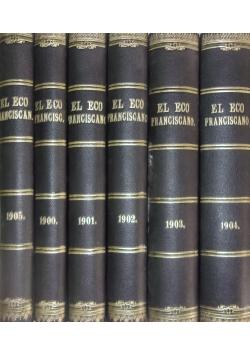 El eco Franciscano. Revista Quincenal. Zestaw 6 książek