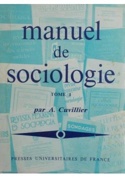 Manuel de Sociologie tome 1