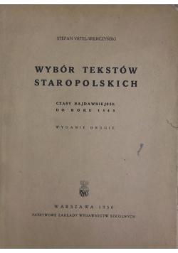 Wybór tekstów staropolskich