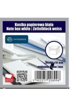 Kostka papierowa biała 85x85x70 mm nieklejona
