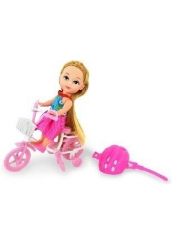 Lalka Natalia na rowerze