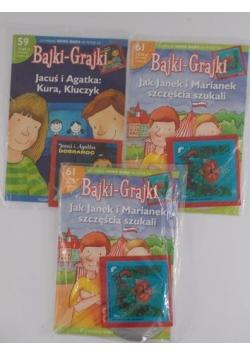Bajki-Grajki, zestaw 3 książek
