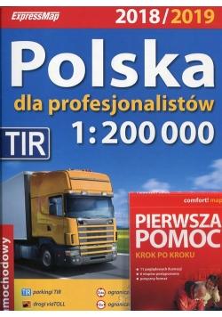 Polska dla profesjonalistów 2018/2019 Atlas samochodowy 1:200 000 + Pierwsza pomoc