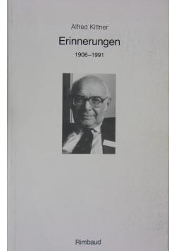 Einnerungen 1906 - 1991