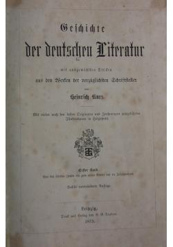 Geschichte der deutschen literatur, 1873 r.