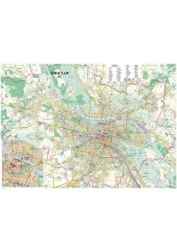 Wrocław. Mapa ścienna laminowana 1:20 000
