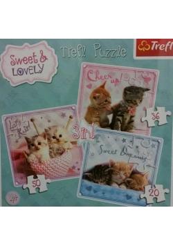 Puzzle 3w1 Słodkie kotki TREFL