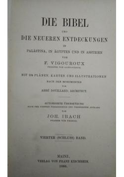 Die bibel und die neueren entdeckungen in palastina, in agypten und in assyrien,  tom IV, 1886 r.