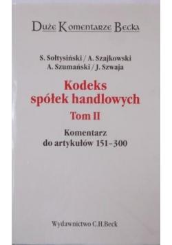 Kodeks spółek handlowych, Tom II