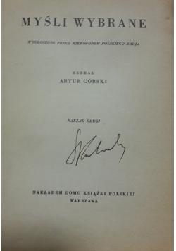 Myśli wybrane, 1934 r.