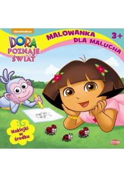 Malowanka dla malucha. Dora poznaje świat