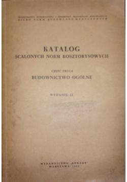 Katalog scalonych norm kosztorysowych, cz. 2