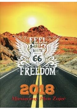 Kalendarz 2018 Miesięczny plan zajęć Route 66