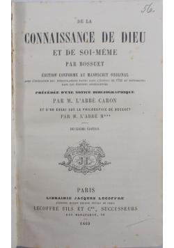 Connaissance De Dieu, 1869 r.