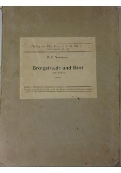Brotgetreide und Brot, 1929r.