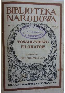 Towarzystwo filomatów, 1924 r.