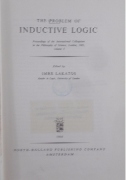 The problem of inductive Logic