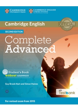 Complete Advanced Student's Book without Answers + Testbank + CD