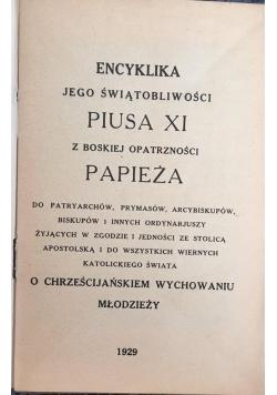 Encyklika Jego Świątobliwości Piusa XI, 1929 r.
