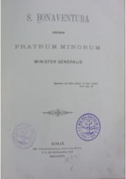 Fratrum minorum, 1874 r.